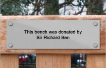 This Bench Was Donated