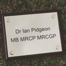 Brass doctors plaque