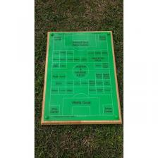 Rear engraved 'football pitch'