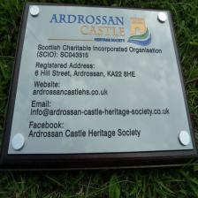 Silver anodised aluminium with colour fill building plaque