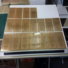 Multiple Gold Sublimated Plaques