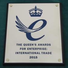 Brass plaque with colour logo