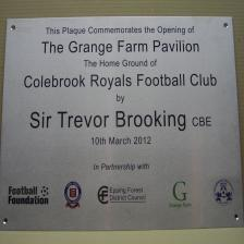 Stainless steel plaque with colour logos